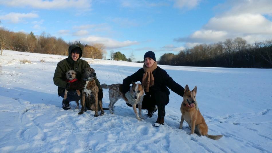 Me, Dan & the pack